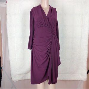 Evan Picone Formal Purple Long Sleeve Dress